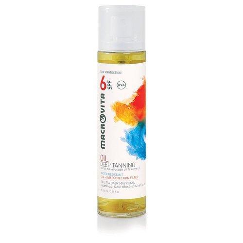 MACROVITA OLEJEK DO SKÓRY OPALONEJ SPF6 WODOODPORNY olej z marchwi, olej z bio-awokado i bio-oliwa z oliwek 100ml