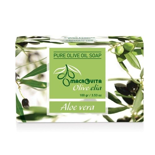 MACROVITA OLIVE-ELIA mydło z czystej oliwy z oliwek ALOES 100g